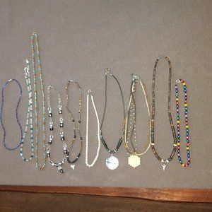 10 Vintage, retro lot choker and necklaces